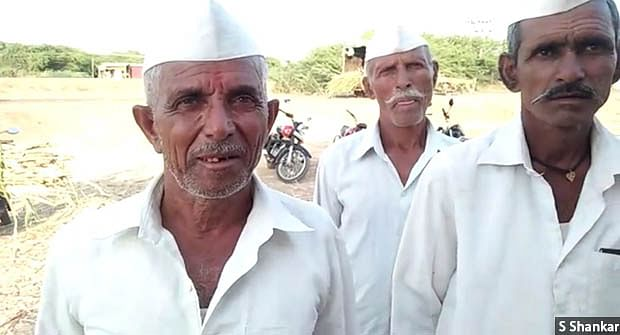 """The seeds that I had sown last year did not even sprout,"" says 70-year-old Pandurang Mane (left) from drought-hit Athani taluka in northern Karnataka. His income has been reducing every year, he says, and he cannot get work as a farmhand at his age."