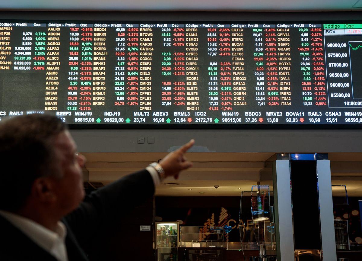 Brazil Stocks Close at a Record High