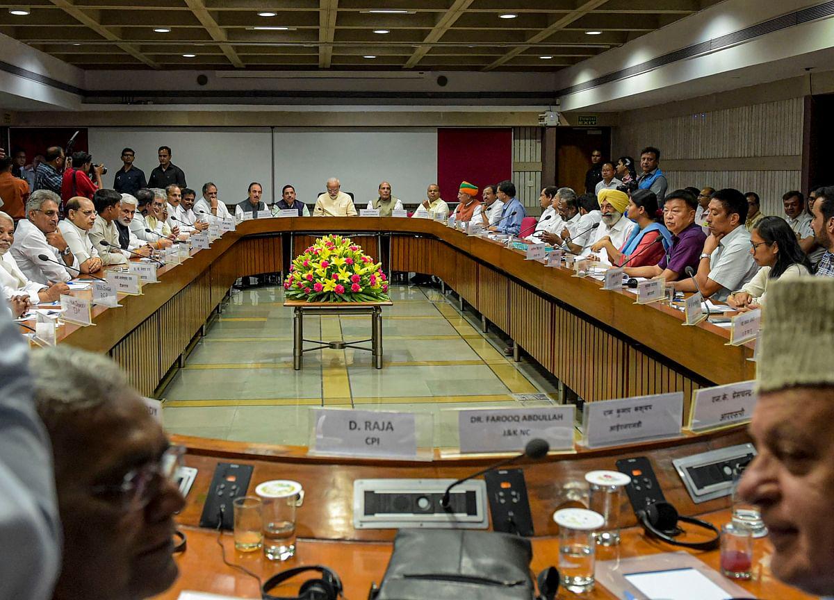 Opposition Demands Debate On Unemployment, Farm Distress In All-Party Meet