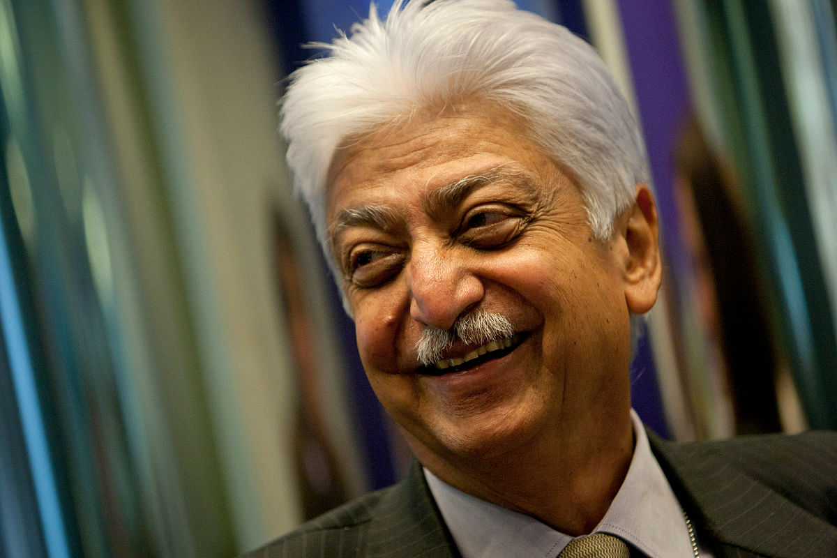 Azim Premji, chairman of Wipro Ltd. (Photographer: Scott Eells/Bloomberg)