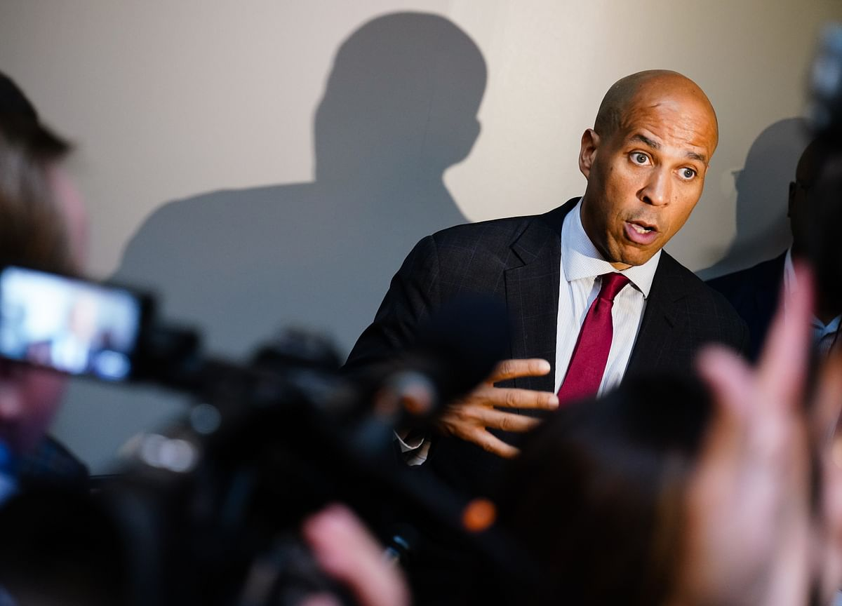 Booker Adds a Dash of Anti-Trump Anger to His Message of Love