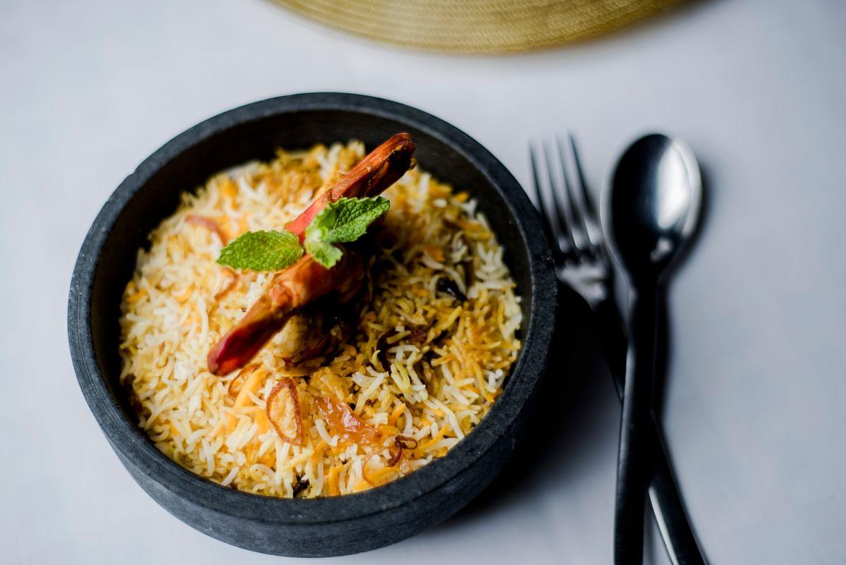 Prawn Biryani: (Photo courtesy: Chef Manjunath Mural)