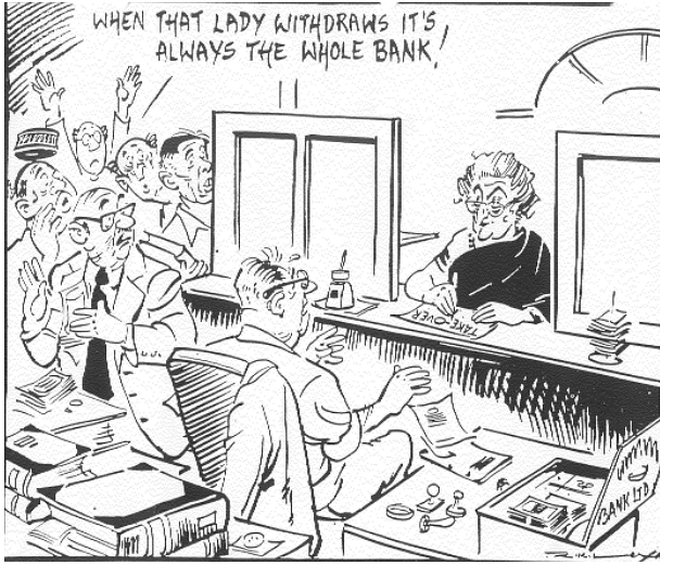 RK Laxman's cartoon in The Times of India, on April 16, 1980. (Photograph: RBI History)