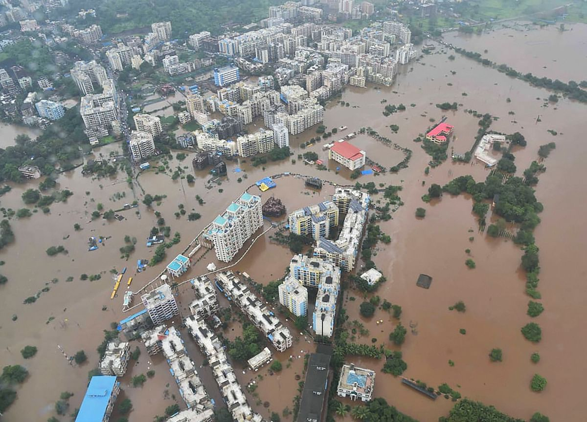 Maharashtra Rains: IAF Chopper Airlifts Over 120 People Stranded In Thane