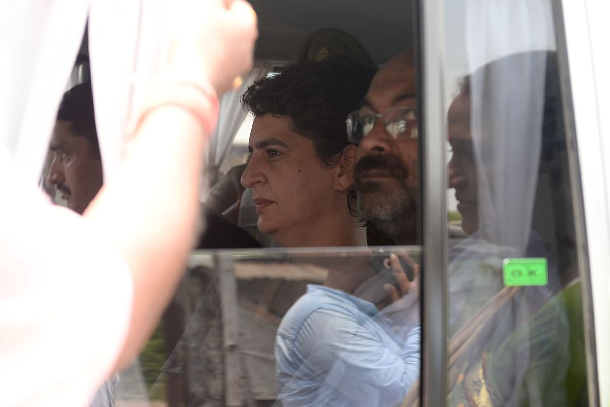 All India Congress Committee leader Priyanka Gandhi Vadra detained on her way to Sonbhadra. (Source: Congress)