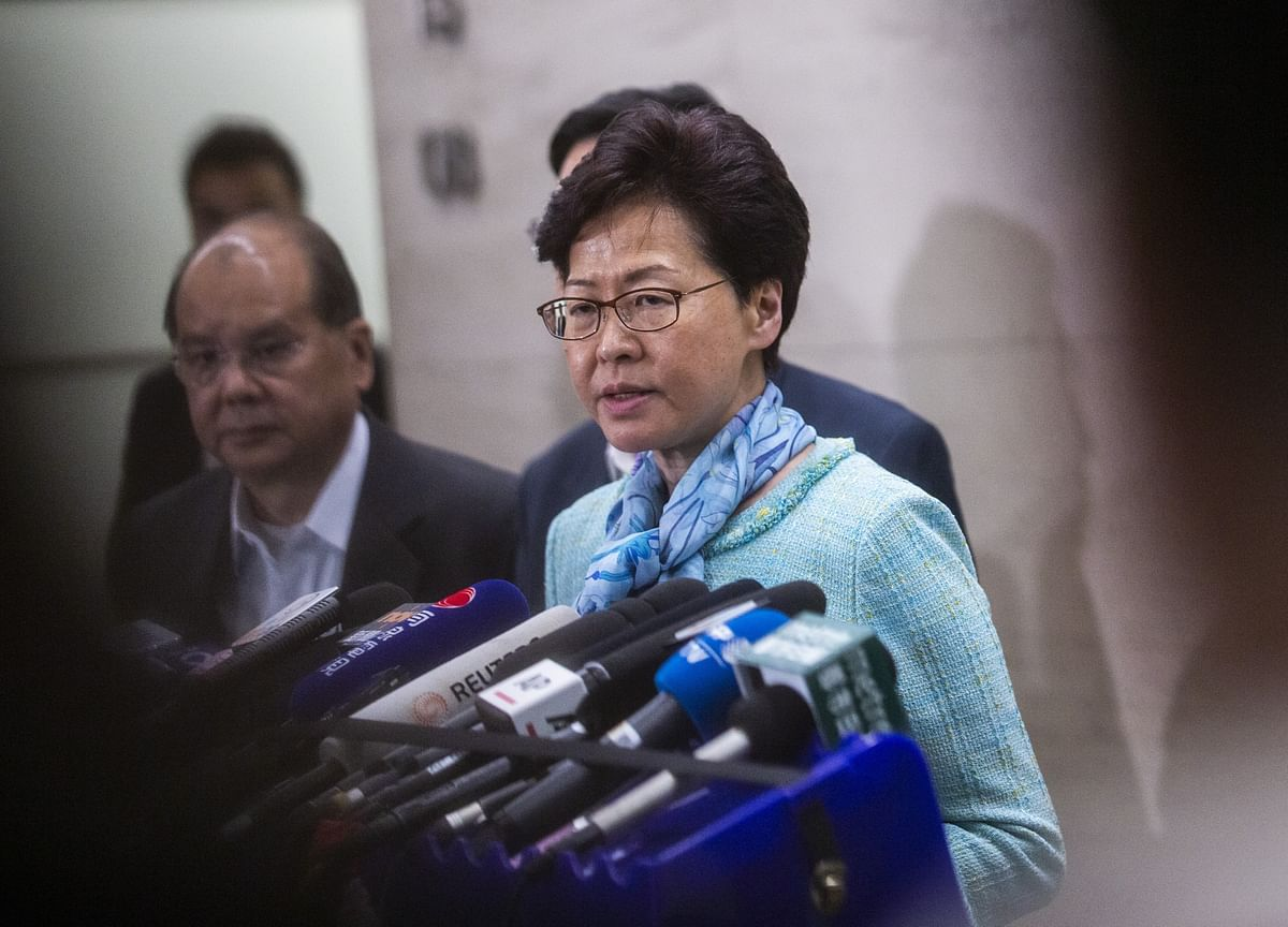 Hong Kong's Carrie Lam Urges Protestersto Let Town Hall Event Go Forward
