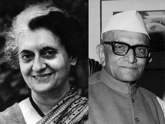 Indira Gandhi and Morarji Desai. (Photograph: NMML/Government of India)