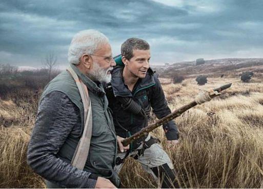 Indian Prime Minister ModiTakes OnBear Grylls' 'Man vs.Wild'