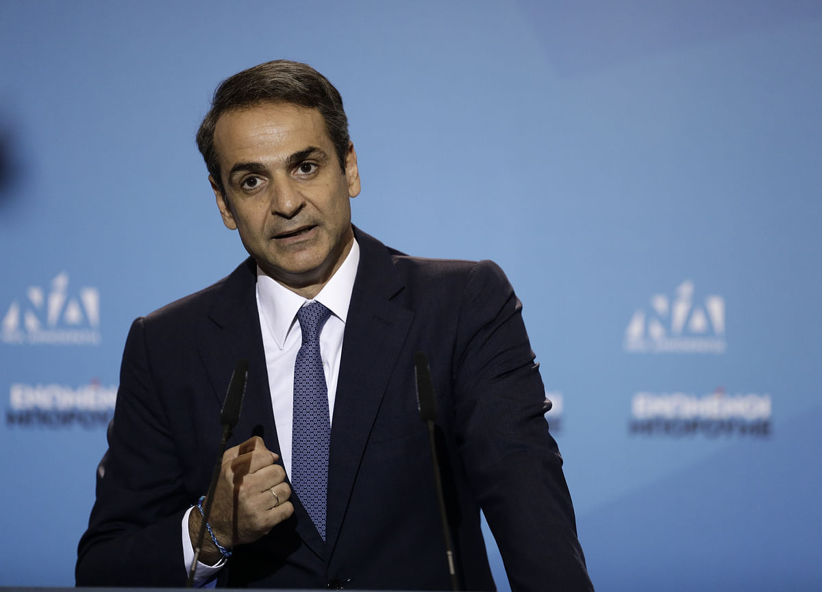 Greek Opposition Leader Mitsotakis Seals Sweeping Victory