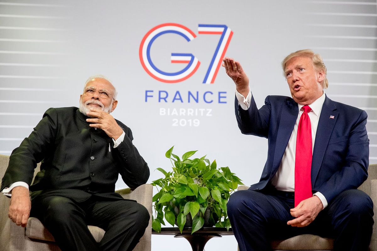 G-7 Summit: PM Modi Meets Donald Trump, Rejects Any Scope For Third Party Mediation On Kashmir Issue