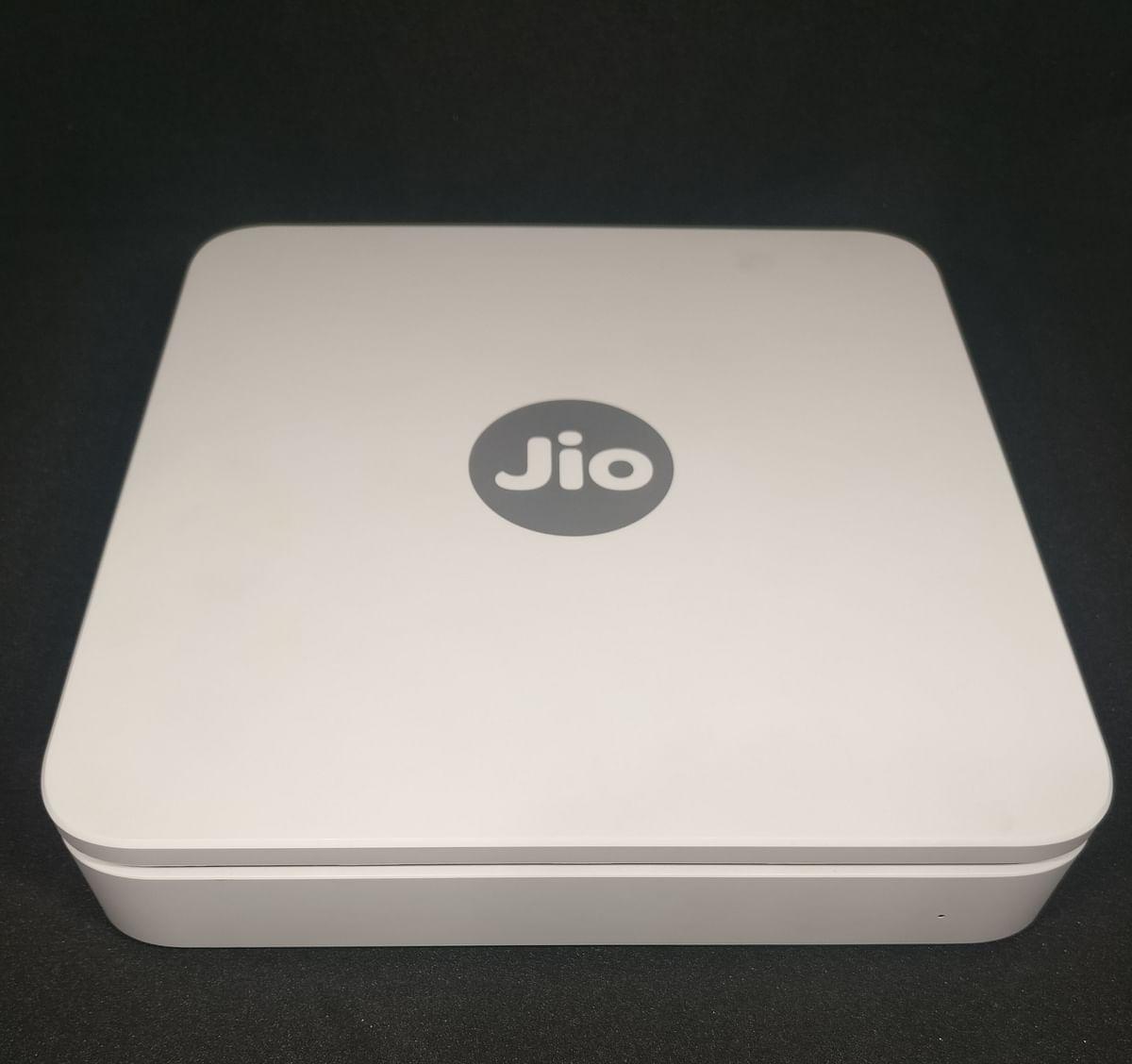 JioGigaFiber modem arranged for a photograph. (Photographer: Anirudh Saligrama/BloombergQuint)