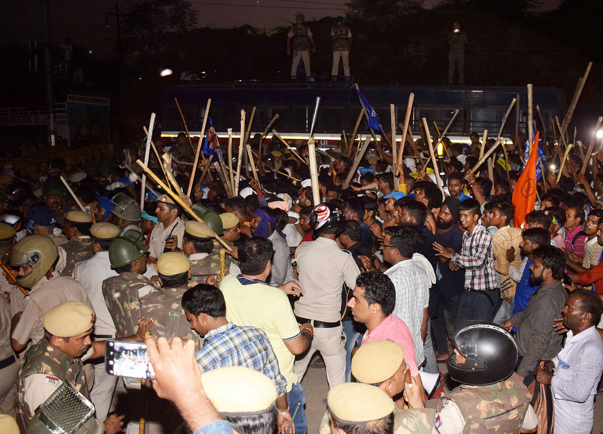 Bhim Army Head, 95 Others Arrested For Rioting During Ravidas Temple Demolition Protests