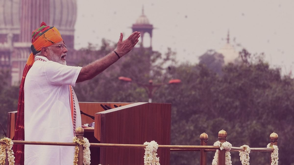 Modi's Independence Day Economic Speech From Ramparts Of A 'Pink' Fort