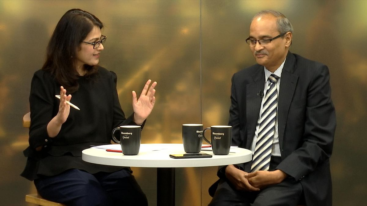BloombergQuint's Menaka Doshi (left) in conversation with Seshagiri Rao. (Image: BloombergQuint)