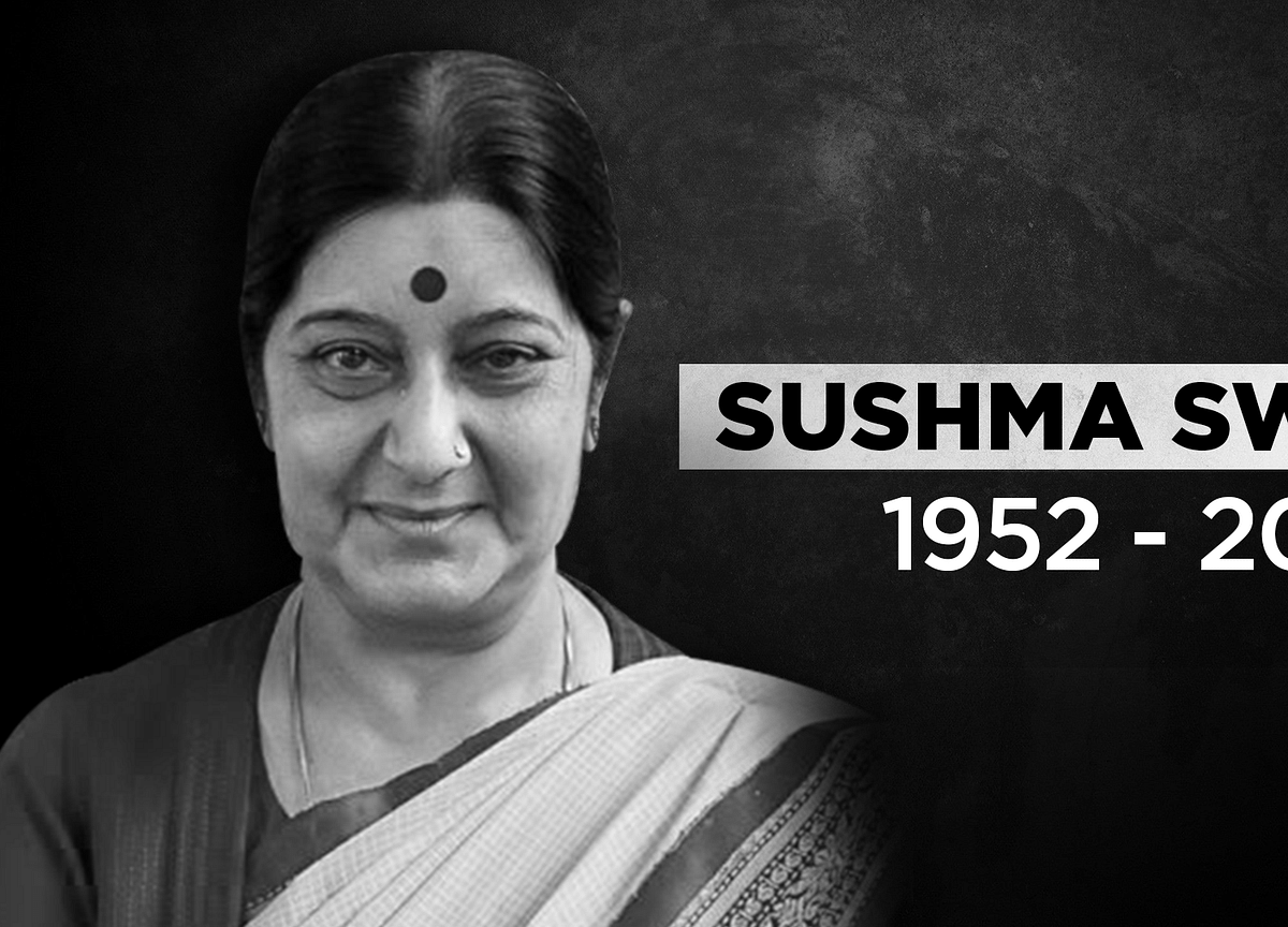 Sushma Swaraj Dies Of Cardiac Arrest At AIIMS Delhi, Funeral Today