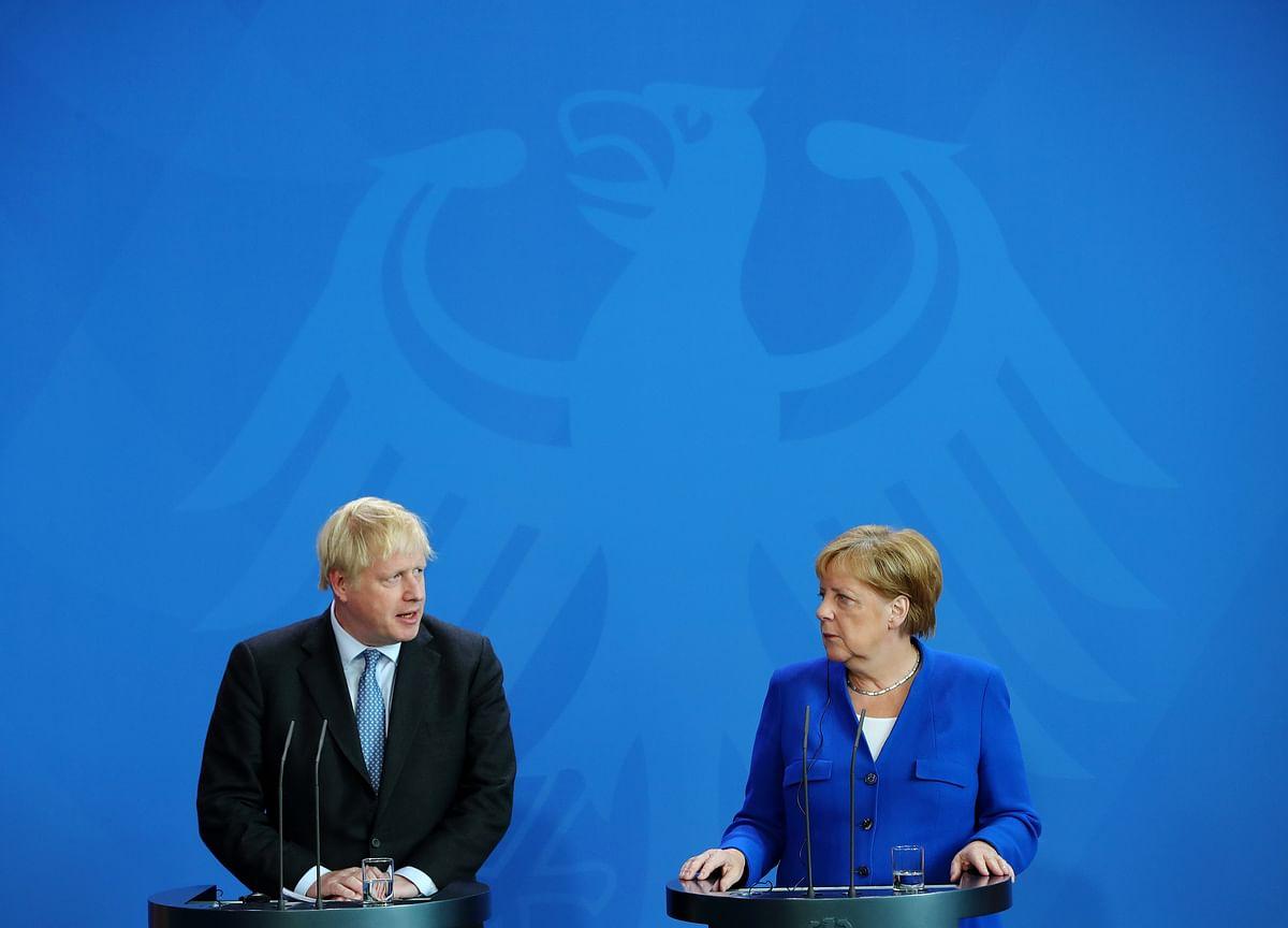 Merkel Sets Johnson Challenge: Solve Brexit Backstop in 30 Days