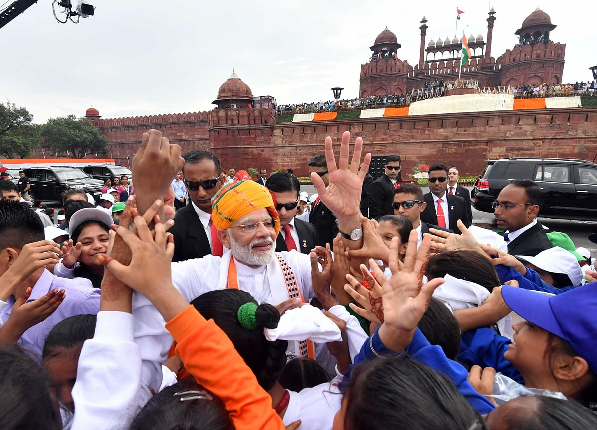 Modi's Independence Day Economic Speech From The Ramparts Of A 'Pink' Fort