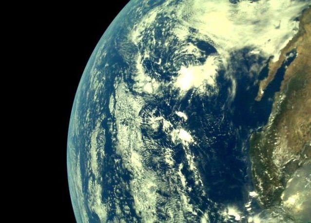 Earth, As Seen From Chandrayaan 2