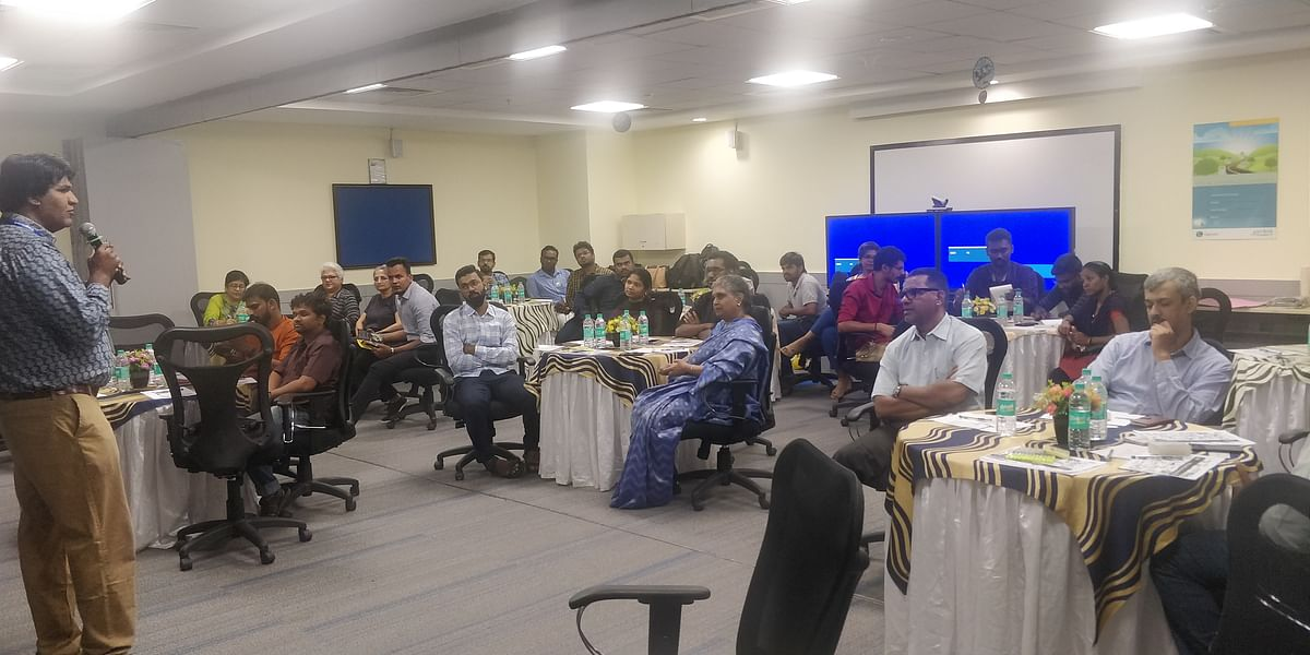 A pro-bono design thinking and e-mail management worksop for NGOs. (Photograph: Cognizant)