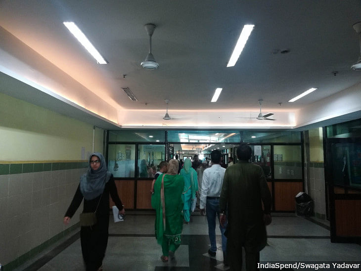 Shri Maharaja Hari Singh Hospital in Srinagar. Outpatient numbers at one of the city's leading government hospitals have fallen by about half since August 5, 2019.
