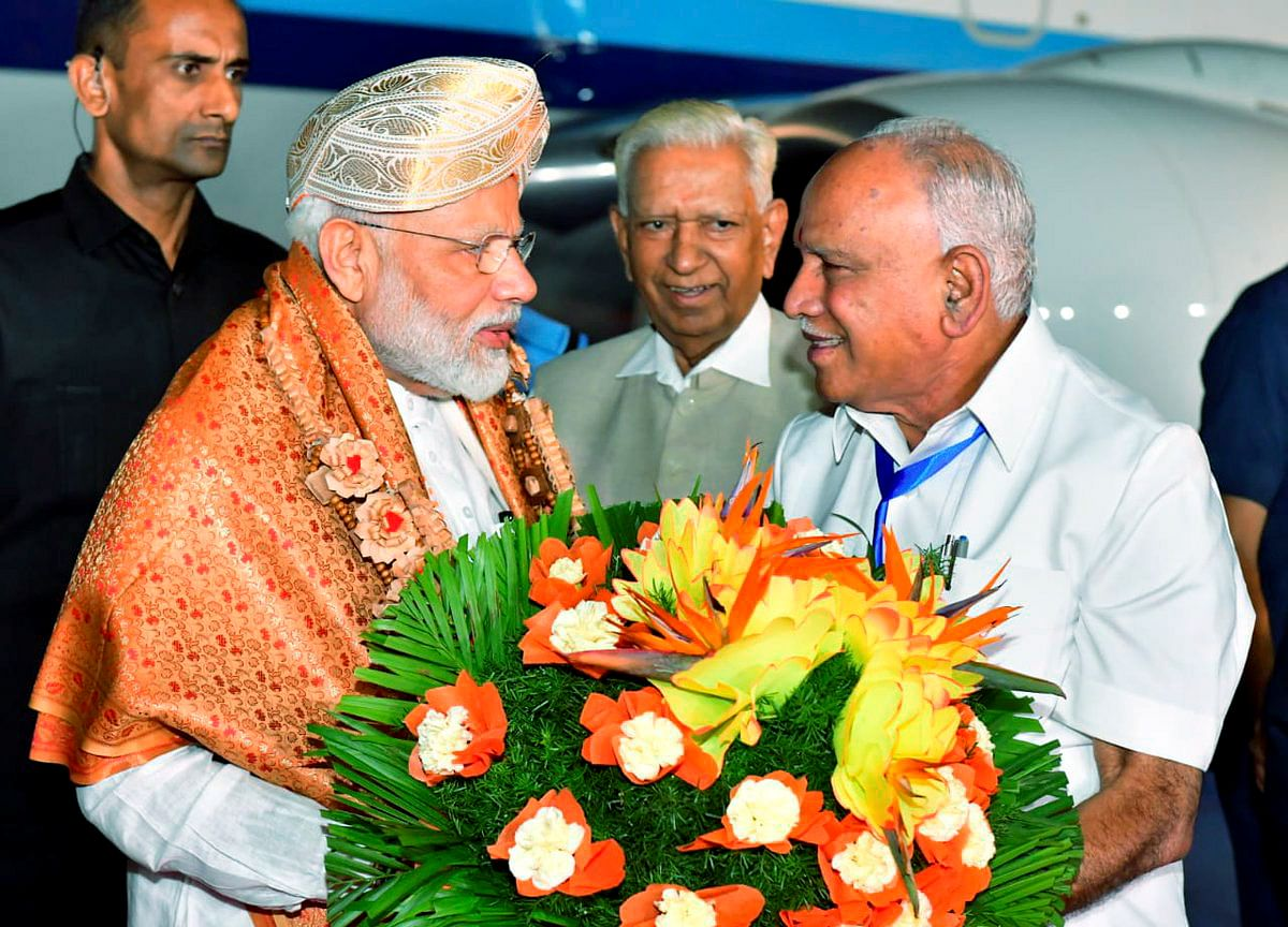 PM Modi Arrives In Bengaluru To Watch Moon Landing From ISRO Centre