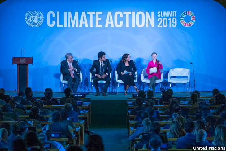 """I should be back in school on the other side of the ocean. Yet you come to us young people for hope. How dare you?"" said 16-year-old Swedish climate activist Greta Thunberg at the United Nations Climate Action Summit 2019 in New York."
