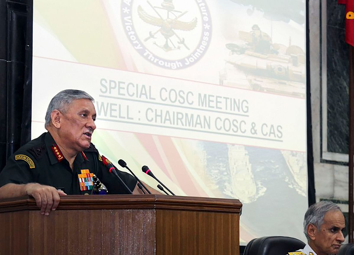 General Rawat To Take Charge Of Chairman Of Chiefs Of Staff Committee On Friday