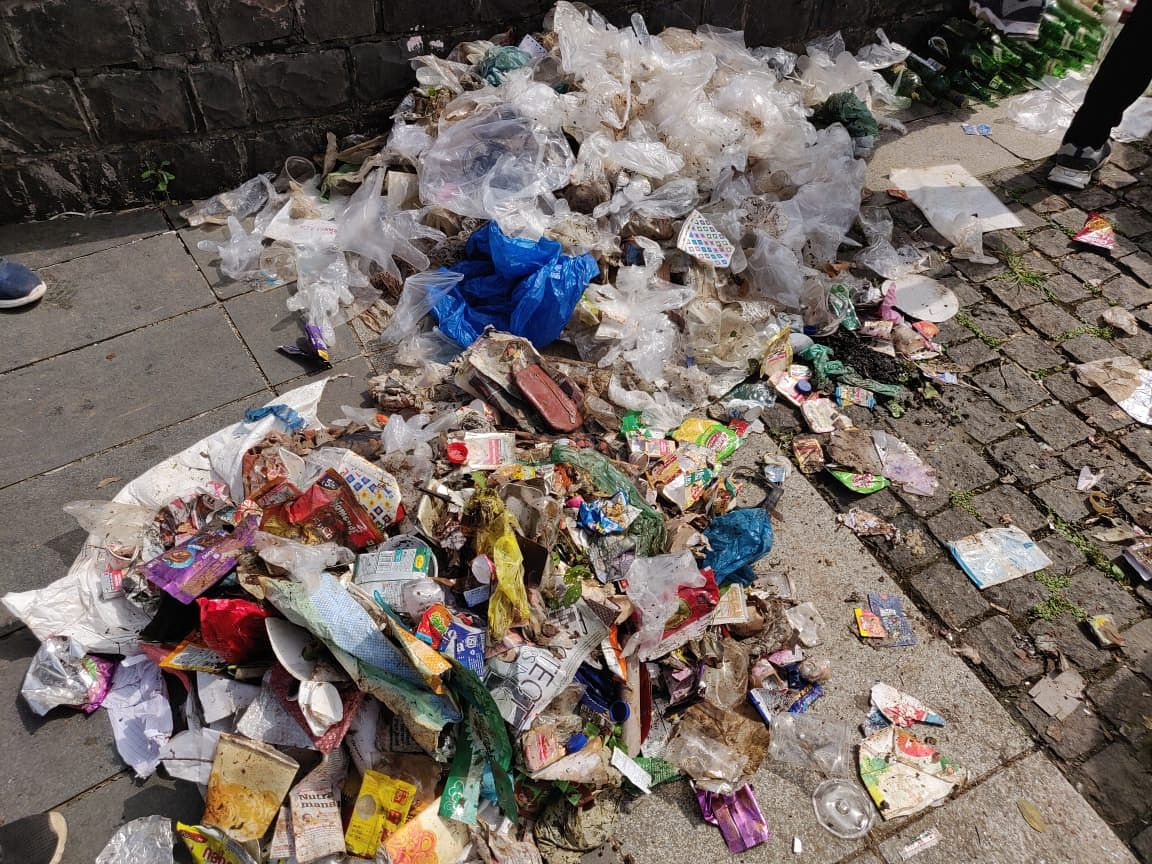 Plastic waste collected during a clean-up drive at Powai Lake. (Saurabh Gupta/Earth5R)