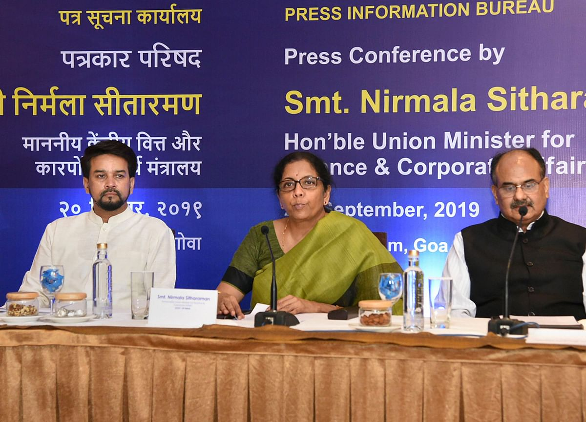 Nirmala Sitharaman Press Conference: Government Slashes Taxes For India Inc. In Unexpected Move
