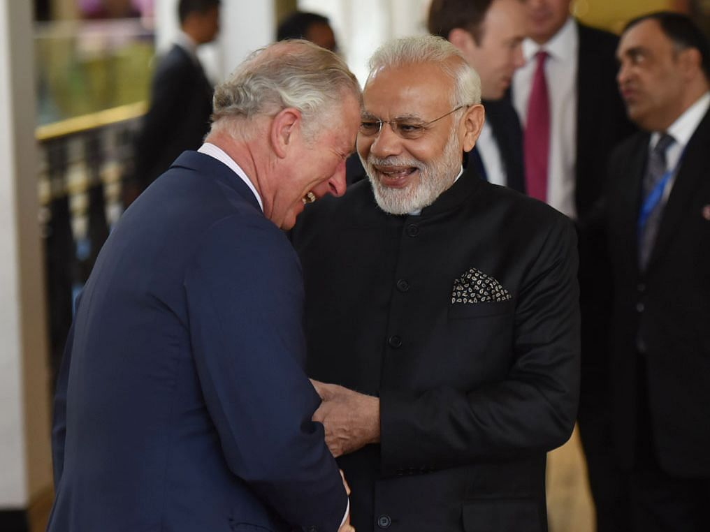 Prime Minister Narendra Modi interacting with Prince Charles, in London, on April 18, 2018. (Photograph: PIB)