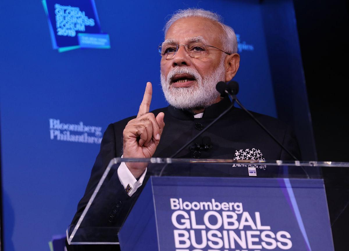 Modi Tells Investors 'Come to India' to Aid $5 Trillion GDP Goal