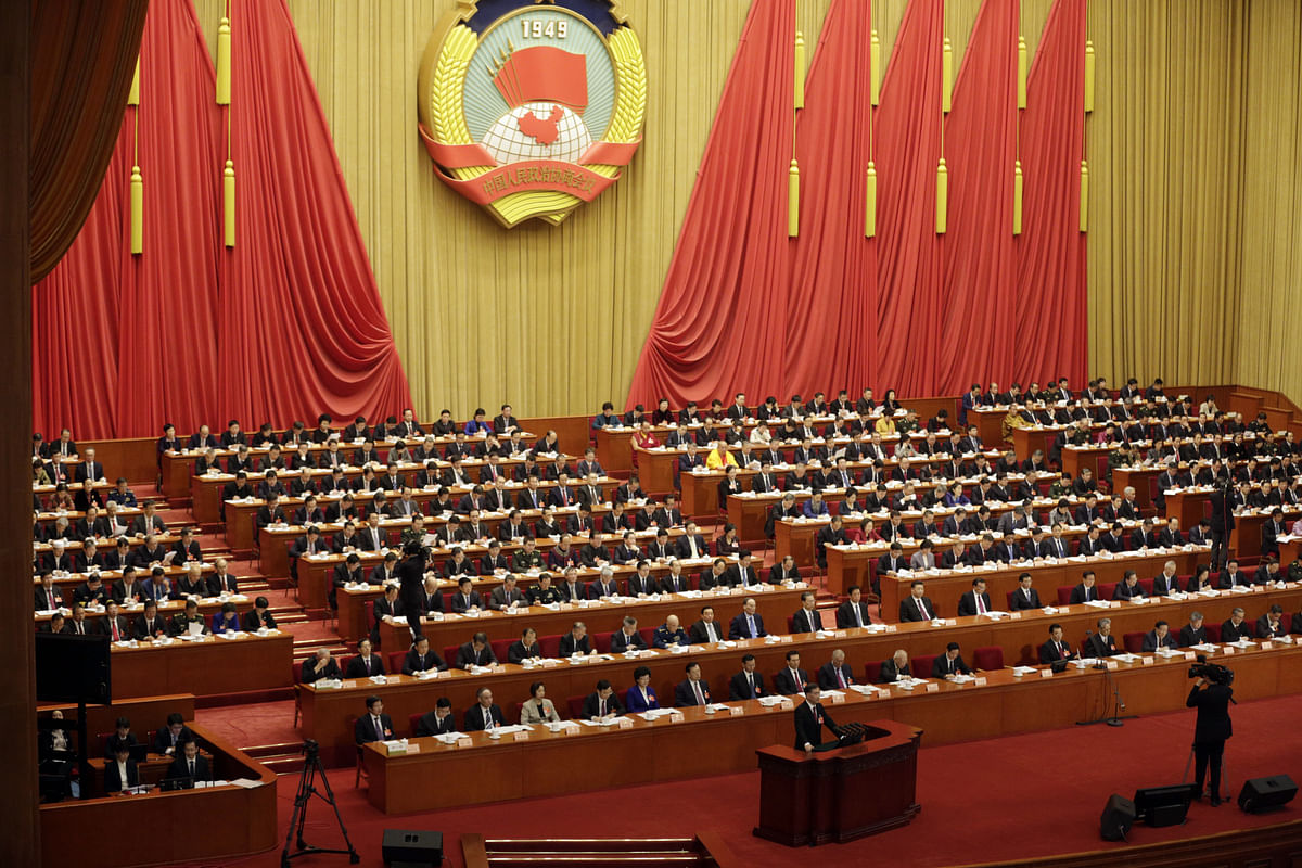 The opening of the second session of the 13th CPPCC in Beijing, on March 3, 2019. (Photographer: Qilai Shen/Bloomberg)