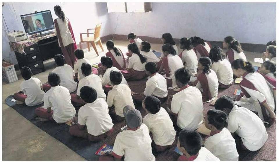 A class in session. (Photograph: eVidyaloka)