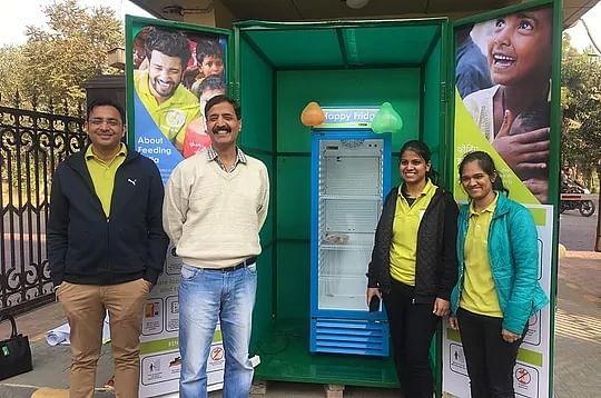 The community 'Happy Fridge' (Photograph: Feeding India)