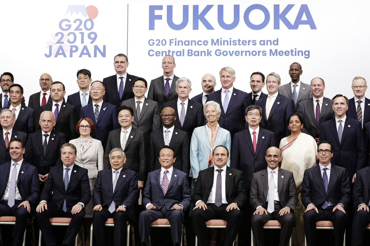 The G-20 finance ministers and central bank governors meeting in Fukuoka, Japan, on June 9, 2019. (Photographer: Kiyoshi Ota/Bloomberg)