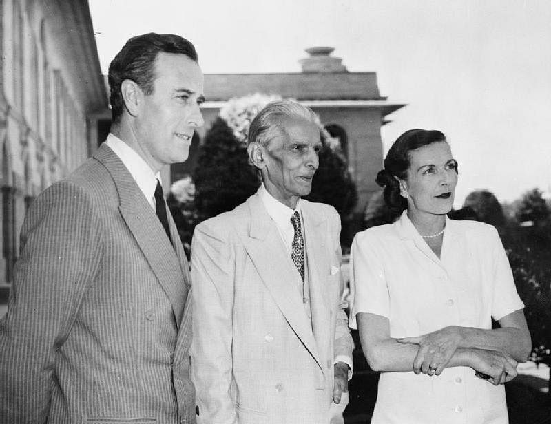 Lord and Lady Mountbatten meet Muhammad Ali Jinnah, in 1947. (Photograph: U.K. Imperial War Museum)