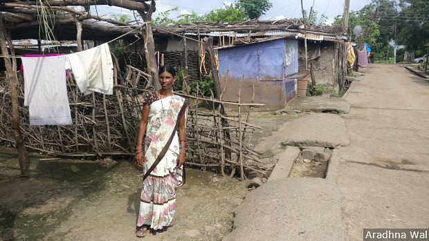 Shobha Kinake, a volunteer mental health activist, meets and counsels people in her village of Mangurda, Yavatmal, everyday.