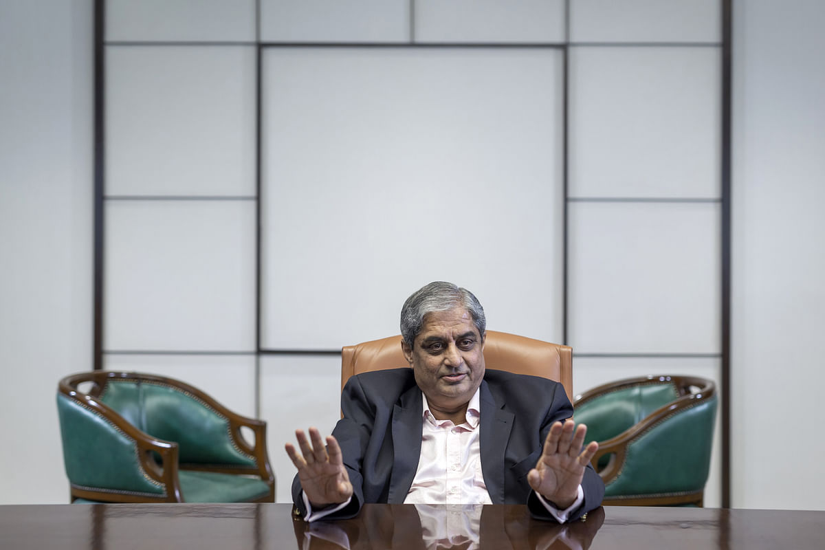 Aditya Puri, managing director of HDFC Bank, speaks during an interview in Mumbai. (Photographer: Kanishka Sonthalia/Bloomberg)