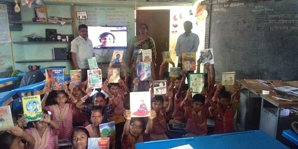 An e-Vidyaloka connected school in Maharashtra. (Photograph: e-Vidyaloka)