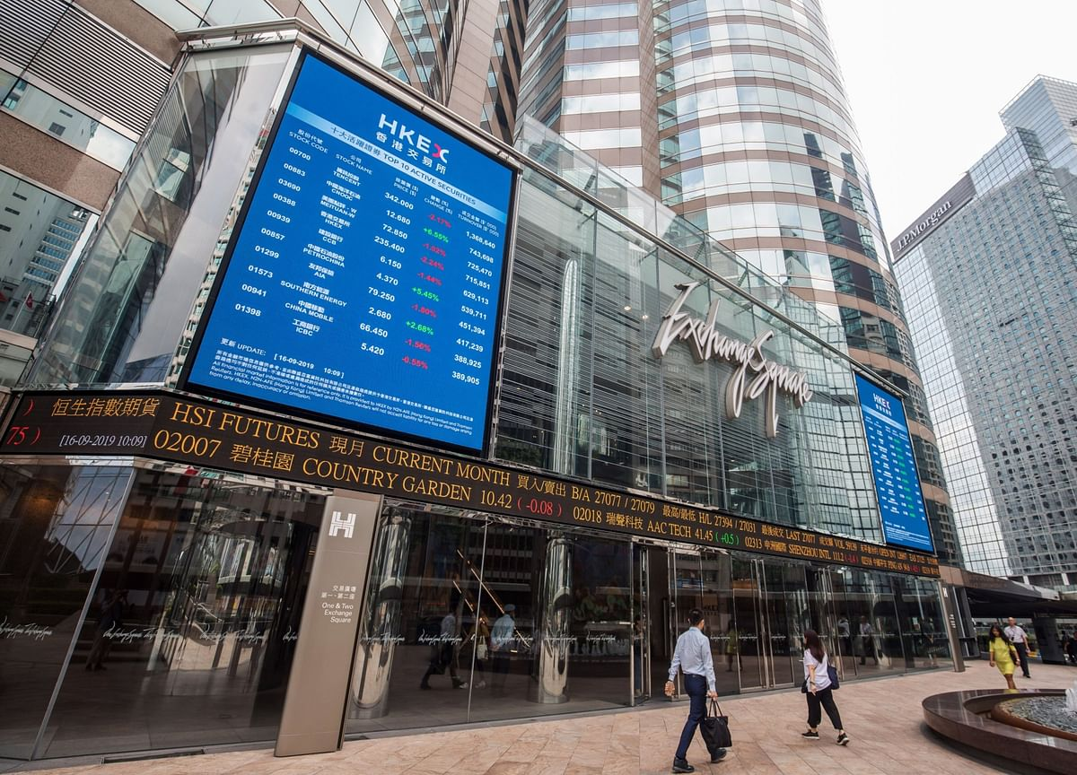 Hong Kong Stocks Trade Near Lowest Versus World Since 2004