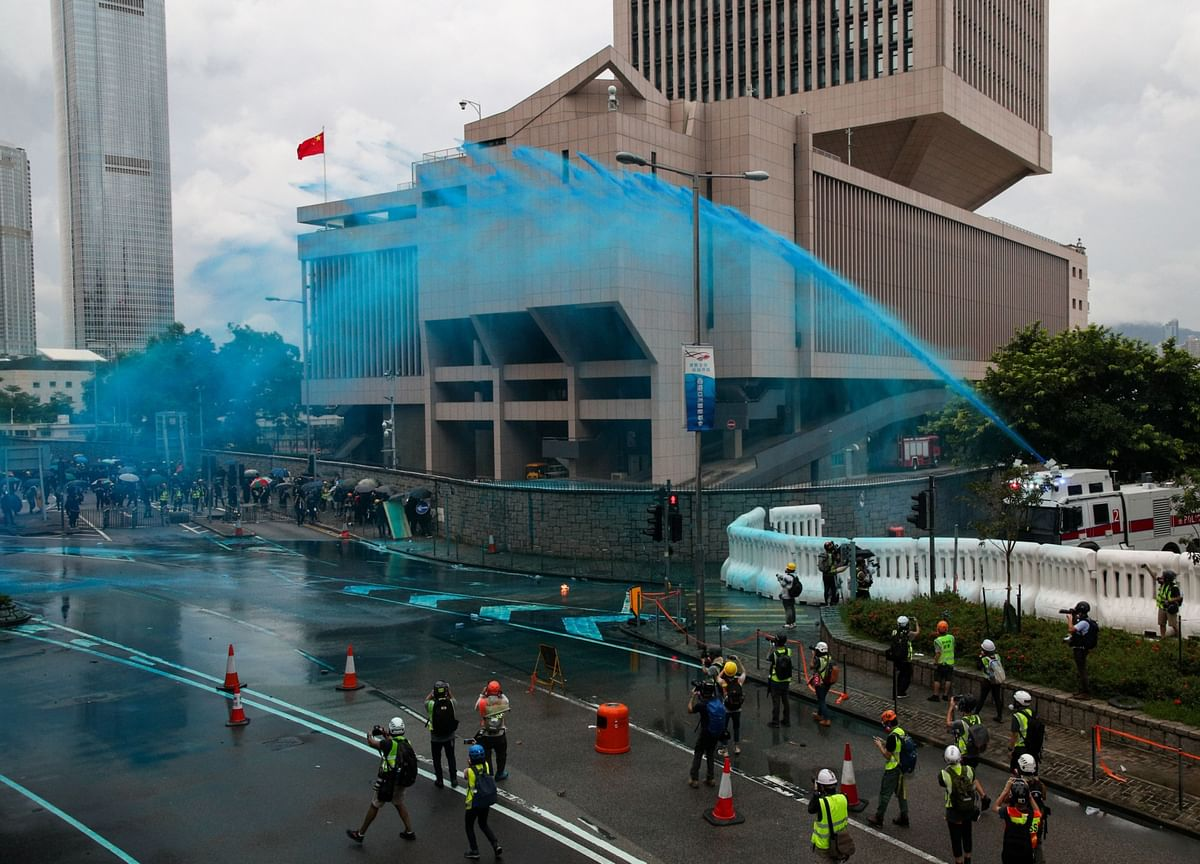 Water Cannon Fails to Move Holed-Up Protesters