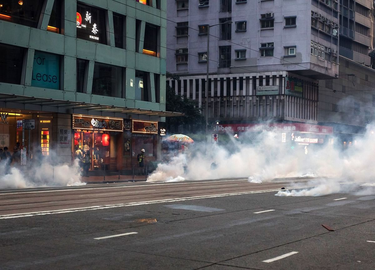 Millions in Hong Kong Have Been Exposed to Tear Gas Since June