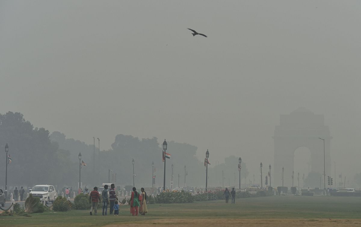 Smog covers Delhi in November 2019. (Source: PTI)