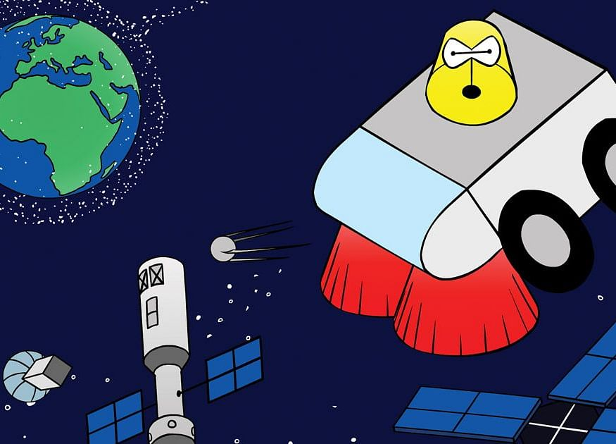 Satellites Are Crowding Space, and It's Time for a Cleanup Plan