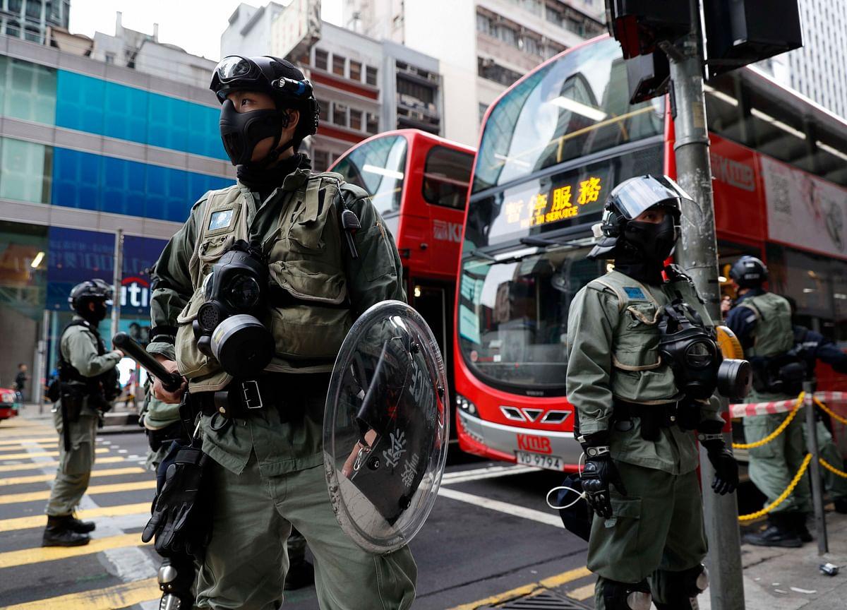 Hong Kong Police Defuse Homemade Bombs at Catholic School
