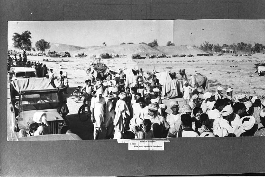 A convoy of evacuees in India from West Pakistan in 1947. (Photograph: Photo Division/Government of India)