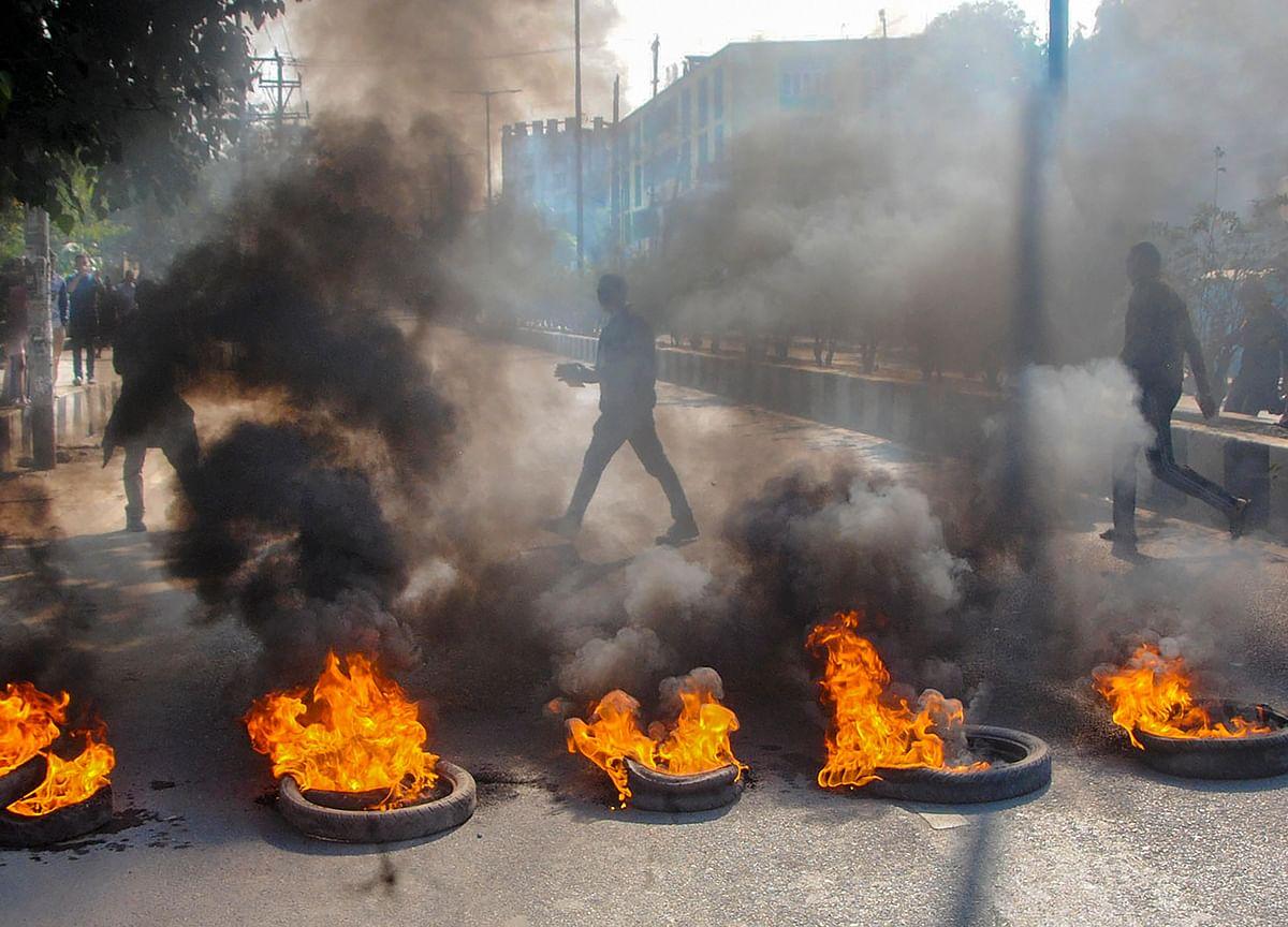 Anti-Citizenship (Amendment) Bill Bandh: Agitators Set Market On Fire In Tripura