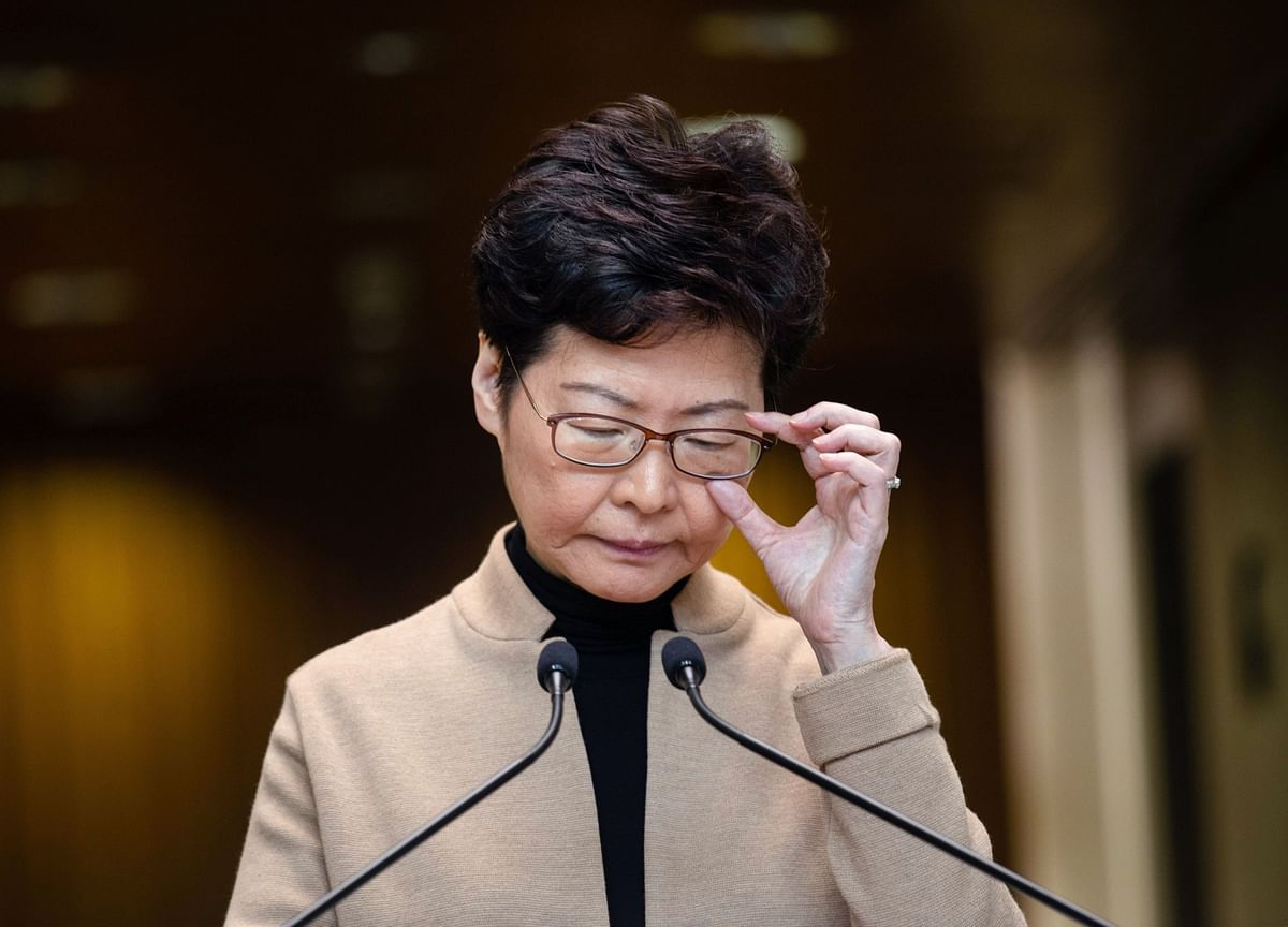 Flu Scare Gives Hong Kong's Carrie Lama Diversion From Protests