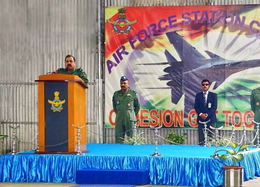 IAF Chief Visits Eastern Air Command, Reviews Operational Preparedness