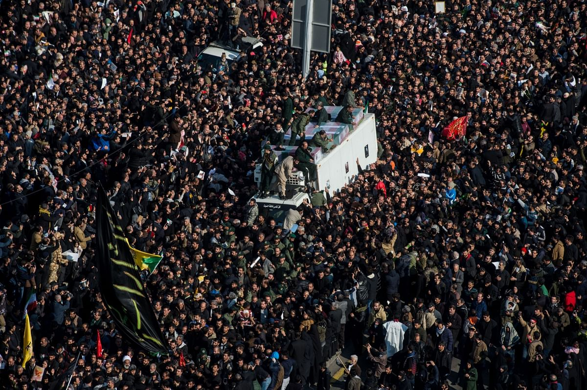 Iran General's Wake Brings Deadly Stampede and Calls for Revenge